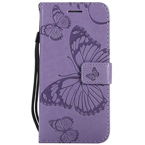 DENDICO Cover Galaxy S6, Pelle Portafoglio Custodia per Samsung Galaxy S6 Custodia a Libro con Funzione di appoggio e Porta Carte di cRossoito - Viola