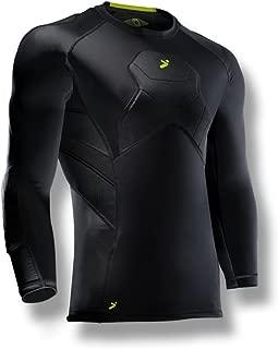 Storelli BodyShield Goalkeeper 3/4 Undershirt   Lightweight Compression Soccer Shirt   Chest Protector   Elbow and Shoulder Padding