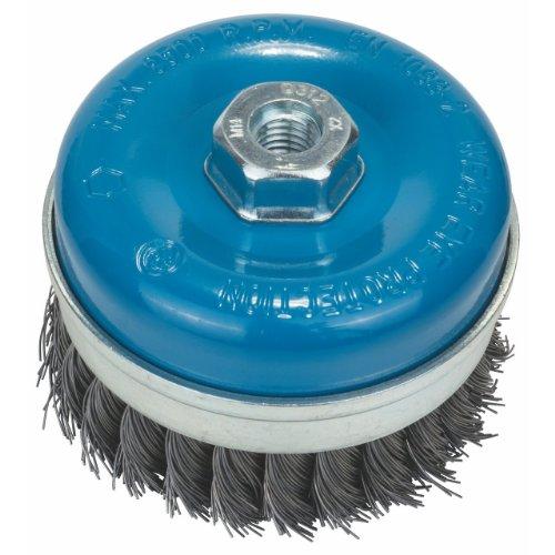 Bosch Professional Topfbürste, Stahl, gezopfter Draht, 0,5 mm, 100 mm, 8500 U/ min, M 14, 2608622010