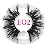 Wenzi-day 25mm False Eyelashes Thick Strip 25mm 3D Mink Lashes Custom Packaging Label Makeup Dramatic Long Mink Lashes,E02 round case