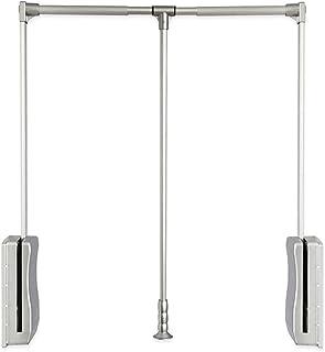 DQWGSS Penderie rabattable, portant à vêtements relevable, grand cintre rétractable, système de rangement léger avec potea...