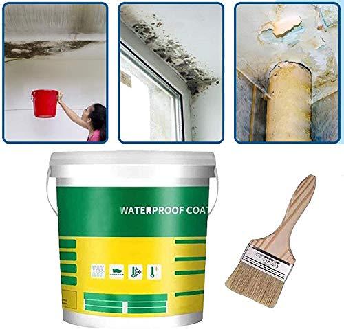 Mighty InvisiGlue Resistente Al Agua, Innovadora Pasta Selladora Resistente al Agua Mighty, Agente Impermeable Invisible Permeable para el Techo del Baño de la Casa