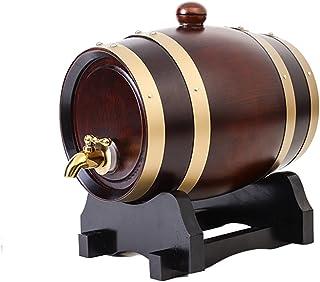 LIL Tonneau à Vin en Bois , Tonneau à Vin en Bois De Chêne pour Le Stockage Ou Le Vieillissement des Spiritueux,5L