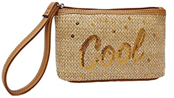 LIly Bloom Tropi-Cool Kaylee Textured Woven Wristlet