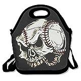 Image of Tesu Bags Skeleton Baseball Cartoon Outdoor/Travel/Picnic Lunch Bag