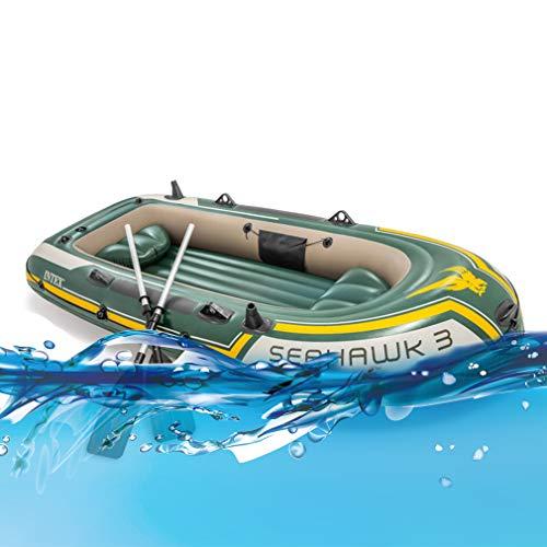 LIJJY Kayak Inflatable Canoe Juego de Kayak Inflable para 3 Personas con remos de Aluminio y Bomba de Aire de Alto Rendimiento
