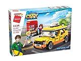Qman 1134 Colorful City Sightseeing - Juego de construcción de taxi para niños a partir de 6 años