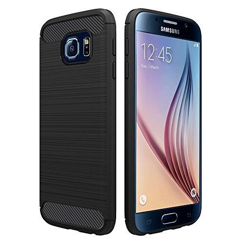Simpeak Cover Compatibile per Samsung Galaxy S6 Custodia 5.1 Pollice, Custodia Compatibile con Samsung Samsung Galaxy S6 Silicone Molle Soft TPU Case, Nero