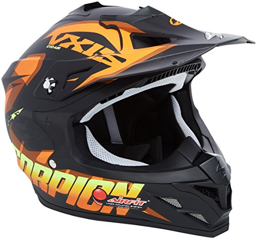 Scorpion Casco moto VX-15 EVO AIR DEFENDER Opaco Nero-Arancia S