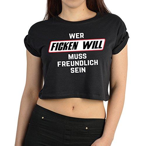 cooles Mädchen Damen Crop Top - Frauen Shirt / Funshirt - Geschenk Geburtstag Weihnachten Geburtstagsgeschenk