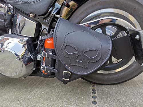 Diablo Skull von ORLETANOS kompatibel mit Schwingentasche Satteltasche Harley Davidson Softail Fatboy Heritage Starrahmen Fat Bob 2018 Tasche Motorradtasche