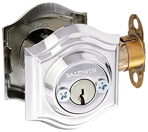 Baldwin DCTAD260 Reserve Double Cylinder Traditional Arch Deadbolt, Bright Chrome Finish