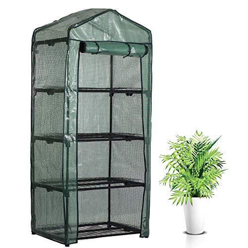 Housse Serre de Jardin 4 Étages avec Bâche Amovible Transparent 160x70x50cm,Couverture Serre en PVC Imperméable et Respirante pour Cultiver Intérieur et Extérieur Plante en Pot,Légumes,Fleur