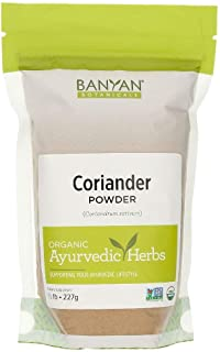 Banyan Botanicals Coriander Powder - Certified Organic, 1/2 lb - Coriandrum sativum - A cooling household spice that promo...
