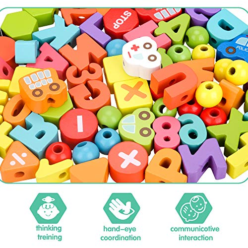 Montessori Toys for 1 2 3 Year Old Toddlers, Educational Toys Birthday Gifts for 1 2 3 Year Old Girls Boy Toddler Gift Threading Toy for Kids Learning Toys for 18 Month Girls Gifts for 1 2 Year Old