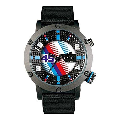 eNe Herren Analog Quarz Uhr mit Nylon Armband 650000115