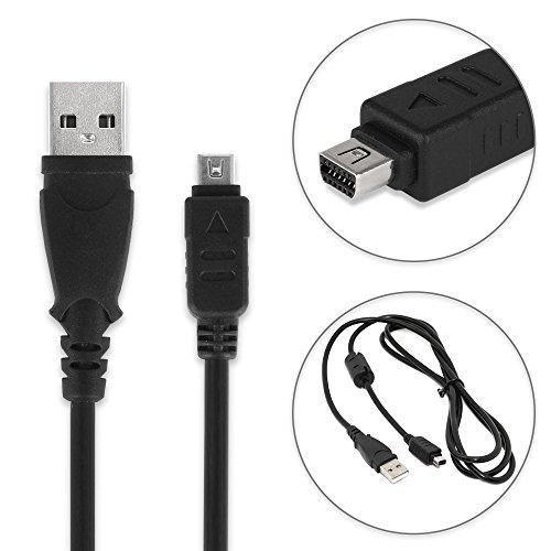 subtel® Cable USB dato para Olympus OM-D E-M10 E-M1 E-M5 Mark II Pen-F Pen E-PL7 E-PL1 E-420 E-410 E-520 E-510 XZ-1 XZ-2 TG-4 TG-870 TG-Tracker Stylus 1, Micro Mini CB-USB6 CB-USB8 Cable Carga