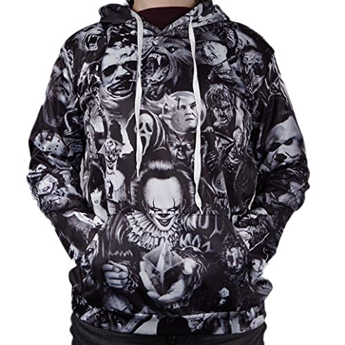 INTERESTPRINT Mens Novelty Hoodies Sweatshirt Pockets