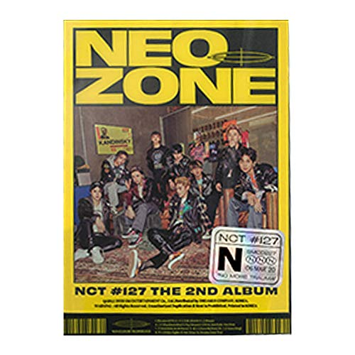 NCT 127 Neo Zone Album PreOrder (N Ver.) CD+Folding Poster On Pack+Photo Book+Lyrics Book+Post Poster+Photo Card+Circle Card+Sticker+Gift(Extra 5 Photocards Set)