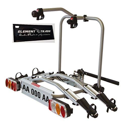 Fietsendrager trekhaak voor 2 elektrische fietsen Tech Pro Elektrobike + ELEMENT TRADE sticker