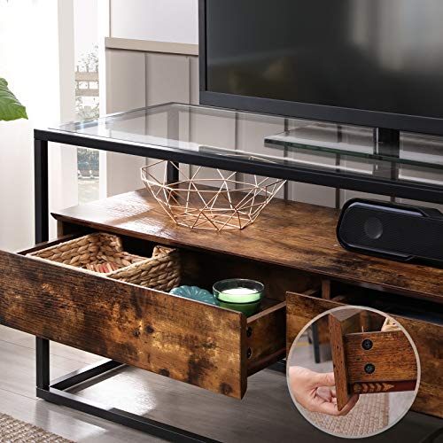 Tempered Glass Top TV Cabinet