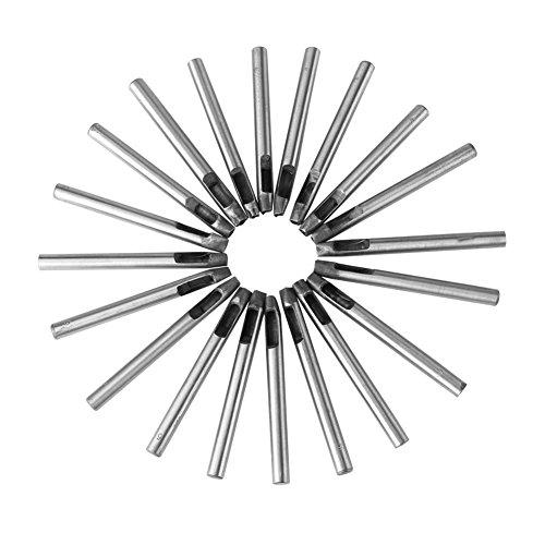 Bewinner 20-delig lederen ambachtelijke 6 mm koolstofstalen lederen perforator, verschillende gepersonaliseerde bloemvormen, goed gereedschap voor het maken en decoreren van leer