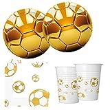 Procos 10118538Party Juego de fútbol Oro
