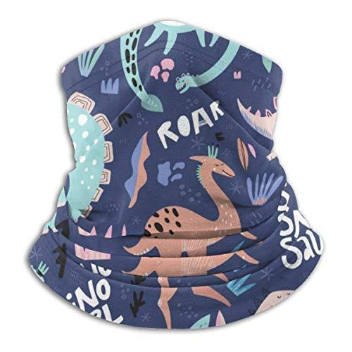 ASDAH leuke dinosaurus handgetekende kleur vector naadloos patroon zachte fleece nekwarmer bivakmuts capuchon