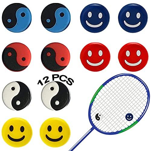 12 Pezzi Ammortizzatore Per Racchetta Da Tennis In Silicon Antivibrazioni Racchetta Tennis Accessori Per Racchette Da Tennis Anti-Vibrazione Anti-Skid Per Corde Da Tennis Per Tennista Favore Sports