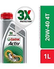 Castrol Activ 4T 20W-40 Petrol Engine Oil for Bikes (1 L)