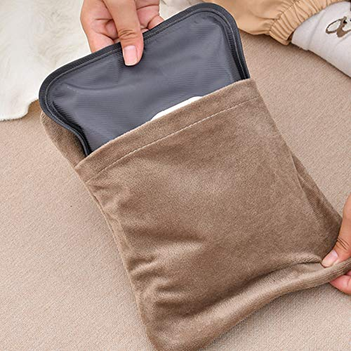 LIZONGFQ Neue nachladbare Wärmflasche Im Winter, Explosionsgeschützte Wasserflasche, warmes Wasser und Elektrizität Trennung Silk Schirm Tasche Baby-