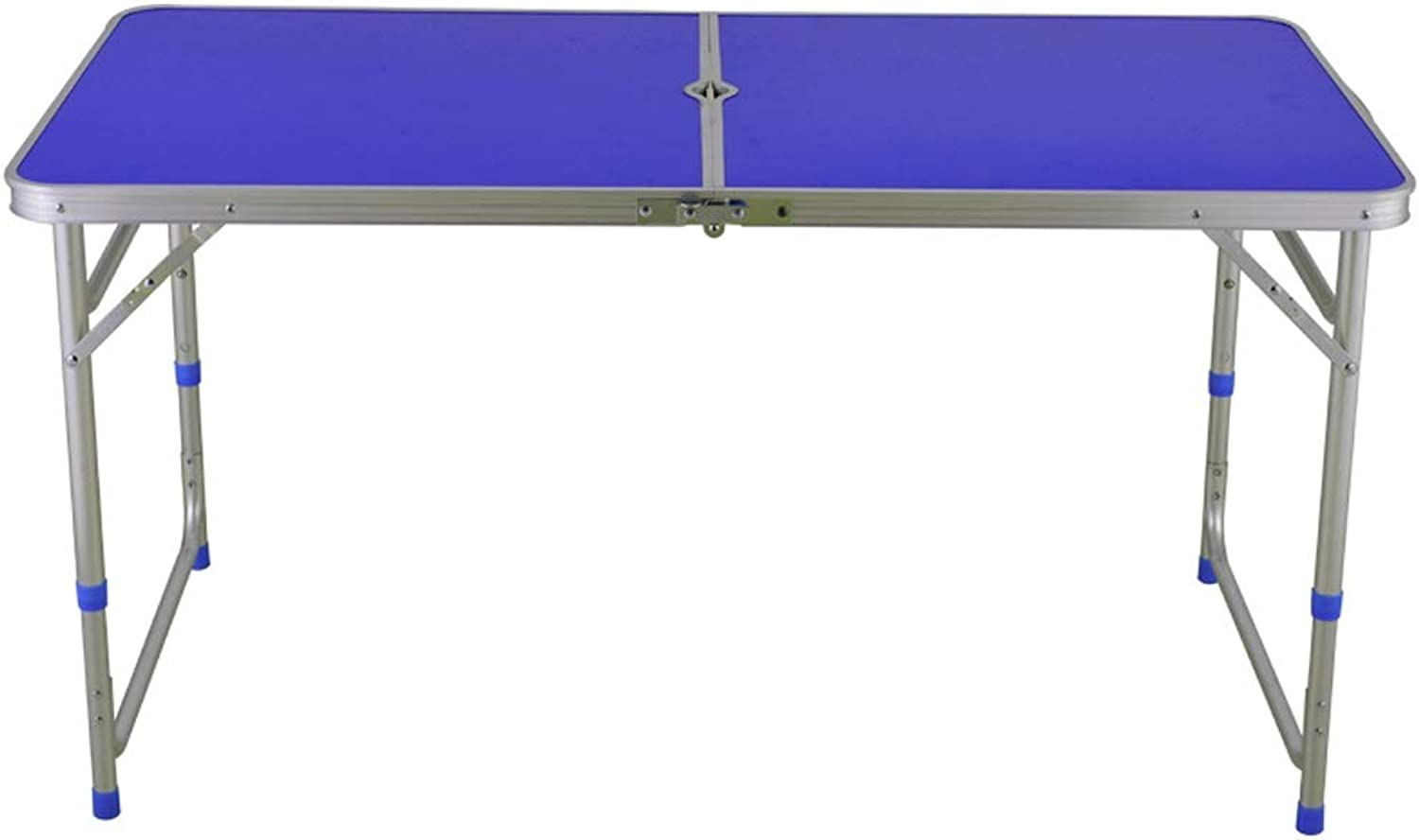 Qing MEI Folding Table, Rectangular Aluminum Alloy Lifting Table, Outdoor Portable Push Table, Barbecue Table, Household Folding Table, Portable Simple Computer Table A++ (color   B)