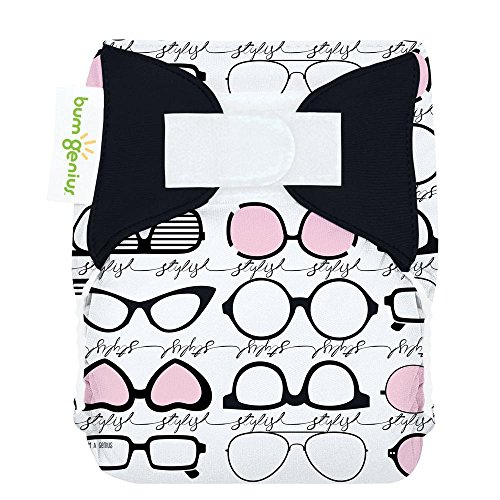 bumGenius All-in-One Newborn Cloth Diaper - Fits Babies 6 to 12 Pound (Audrey)