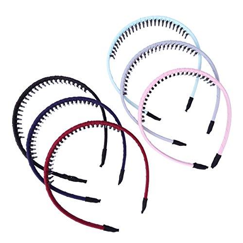 Haarreifen / Kopfband mitZähnen von Frcolor, 6 Stück, Kopfbedeckung, Zubehör für Mädchen und Frauen