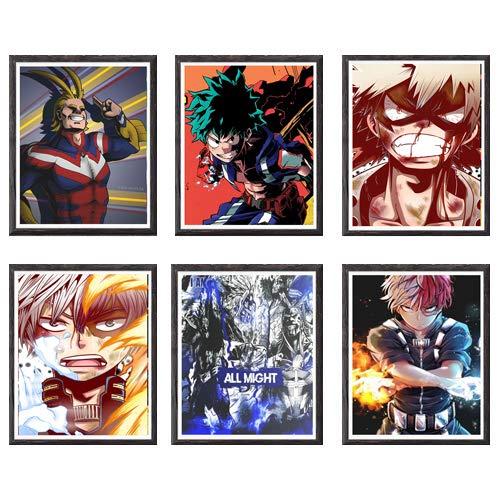 Póster, ilustración de manga, impresión artística de pared, disponibles diseños de las series de anime Naruto, Hunter Tokyo Ghoul, Demon Slayer y My Hero Academia