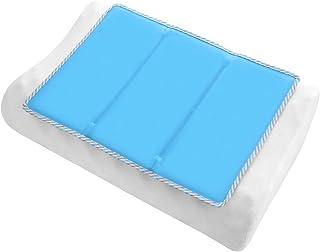ひんやり枕パッド 冷却マット ひんやり敷きパッド 冷感 敷きパッド クールマット枕 ひんやりジェルマット 枕カバー ひんやり ひんやりクールマット 快適ベッドパッド ひんやりマットシーツ 涼感冷感シーツ 手触り滑らか爽快 ベッドパッド・敷きバッド 接触冷感 快眠シーツ 熱中症対策 グッズ 柔らかいマット 折り畳めるマット 冷却グッズ コンパクト 車用 犬猫用 ペット用 座布団 ノートPC用 冷却ジェルシート 枕カバー ブルー 30X40CM