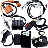 Full Electrics Wiring Harness Coil Ignition Switch CDI Solenoid Relay Spark Plug For 4 wheelers Stroke ATV 150cc 200cc 250cc Quad Bike Buggy Go Kart By OTOHANS AUTOMOTIVE