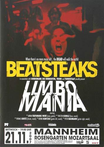 Beatsteaks - Limbo Mania, Mannheim 2007 » Konzertplakat/Premium Poster | Live Konzert Veranstaltung | DIN A1 «