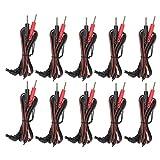 Cable Conductor de Electrodo, Bolsa de 10 Piezas 2,35 Mm 1,2 M 2 en 1 Tipo de Clavija Cables de Electrodo Cable para Unidad de Fisioterapia