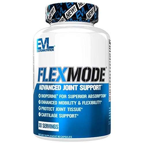 Evlution Nutrition Flex Mode, Advanced All-In-One Joint Support, Mobility & Pain Relief, Glucosamine, Chondroitin, Turmeric, MSM, Boswellia, Hyaluronic Acid (30 Servings)