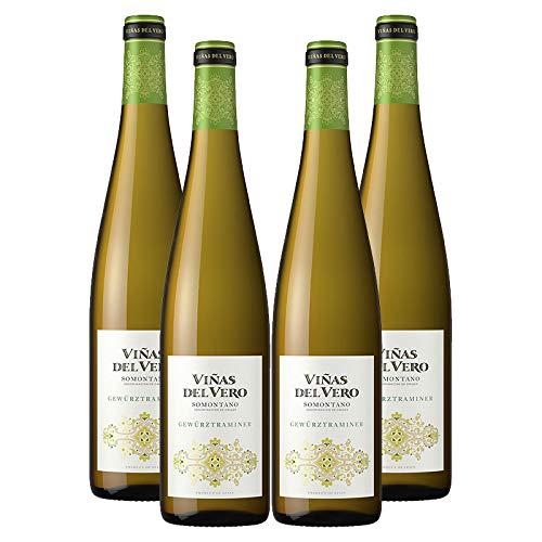 Vino blanco Gewürztraminer Viñas del Vero de 75 cl - D.O. Somontano - Bodegas Gonzalez Byass (Pack de 4 botellas)