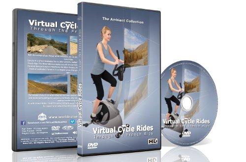 Virtuelle Fahrradstrecken - Durch die französischen Alpen - Für Indoor-Cycling, Laufbänder und Lauftrainingseinheiten