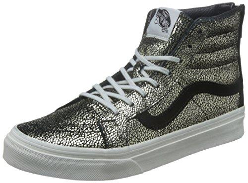 Vans Sk8-Hi Slim Zip Gold Dots Sneaker Damen, schwarz / gold, 4.0