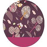 Joyfill Stillkissen Waschbarer Bezug für Flexofill Schwangerschaftskissen 190x40cm - 597Forest lila