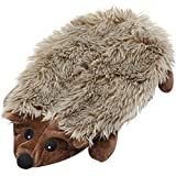 No Stuffing Crinkle Dog Toy Squeak with Squeaker for Small Medium Large Dogs, Stuffless Hedgehog Dog Toys Plush Durable Dog Toothbrush Chew Toy for Slightly Aggressive Chewers