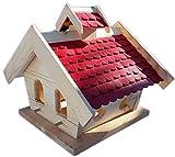 Vogelhaus-XXL mit Holzschindeln und Putzklappe