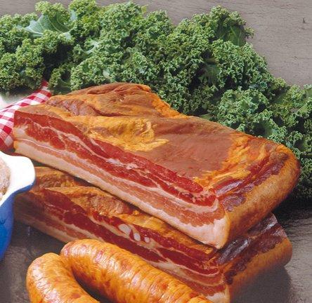 Geräucherter Bauchspeck - Ideal auch zum Grünkohl | Stück ca. 500g