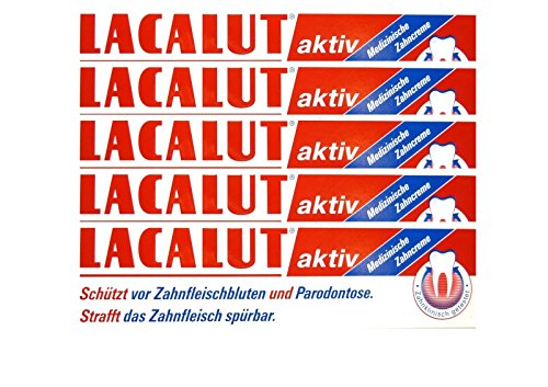 5x LACALUT aktiv Zahncreme 100 ml PZN 5484132 Parodontose Zahnfleischbluten