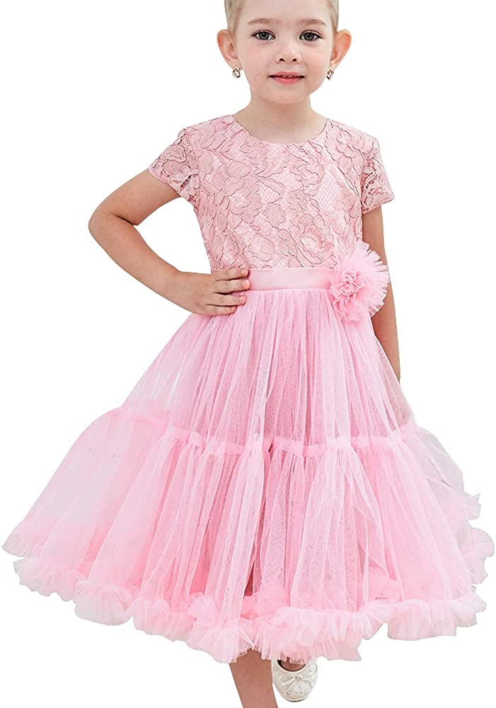 Adaniwli Flower Girl Sales of SALE items Sales from new works Dress Lace Gowns Tulle Ball Christeni Girls