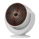 SXDEYAKJ Calentador, Calentador de Espacio pequeño Calentador de Escritorio de Calentamiento rápido con protección contra sobrecalentamiento Termostato Calentador portátil pequeño Ventilador